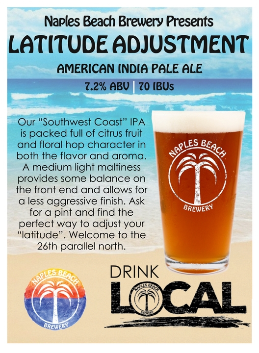 Naples Beach Brewing Latitude Adjustment IPA