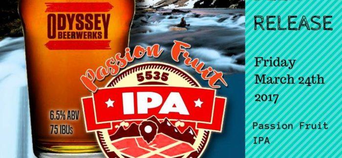 Odyssey Beerwerks   Passion Fruit 5535 IPA