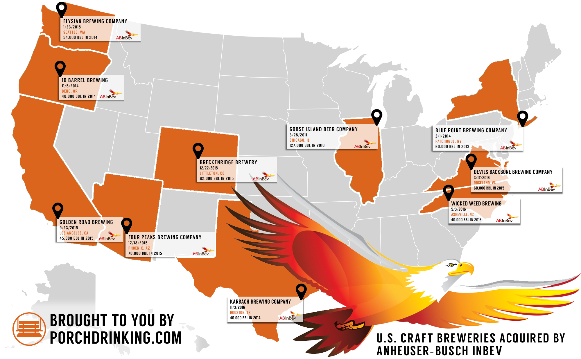 Anheuser-Busch InBev Acquires Wicked Weed Map