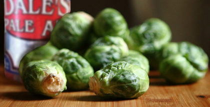 Braised Brussels Sprouts with Pancetta and Pale Ale
