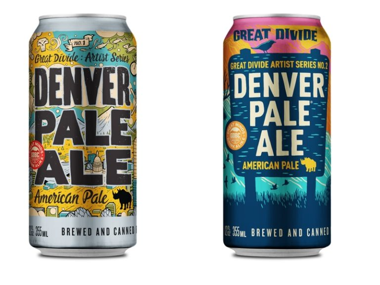 Denver Pale Ale Artist Series Can Comparison