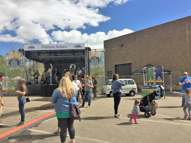 Main stage at 4th Annual Upslope Get Down