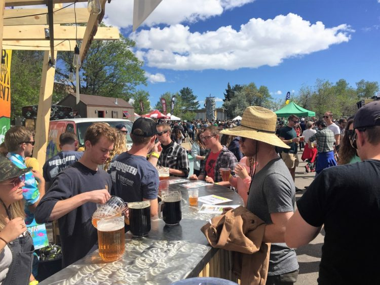 Pour station at 4th Annual Upslope Get Down