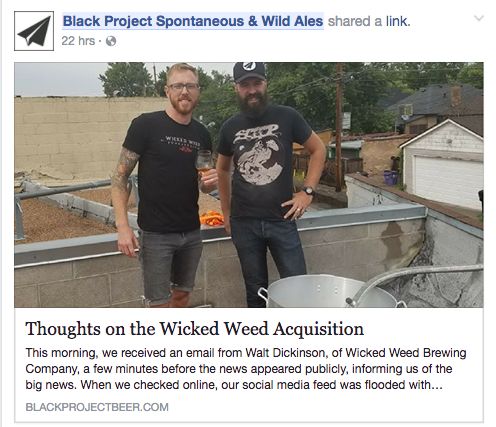 Black Project Wicked Weed Response