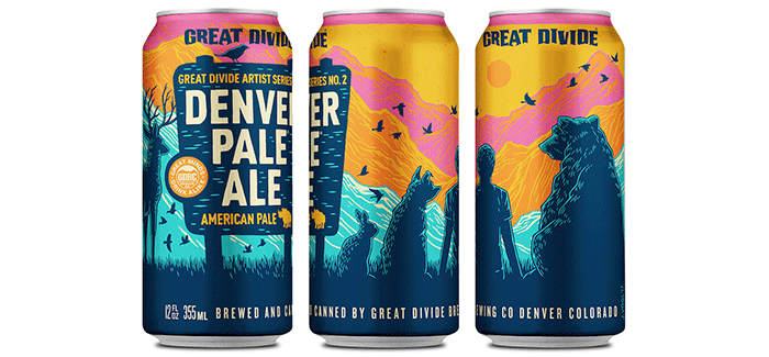 Great Divide's Denver Pale Ale Artist Series #2 Featuring John Vogl