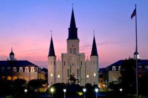 2 days 2 nights New Orleans St. Louis Cathedral at night