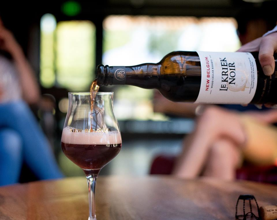 new belgium's wood cellar reserve series le kriek noir