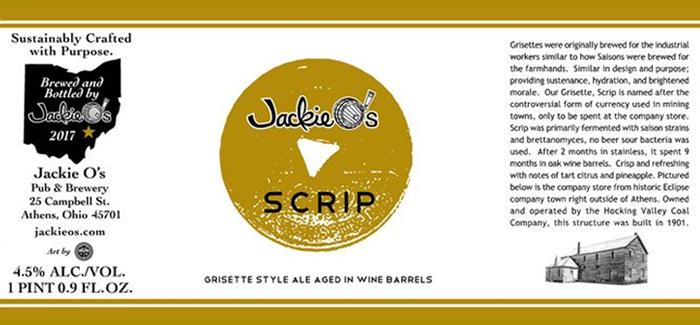 Jackie O's Brewery | Scrip