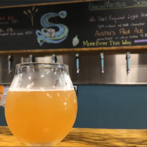 Savannah River Brewing Co. Witty Belgian Witbier with blood orange chalk menu