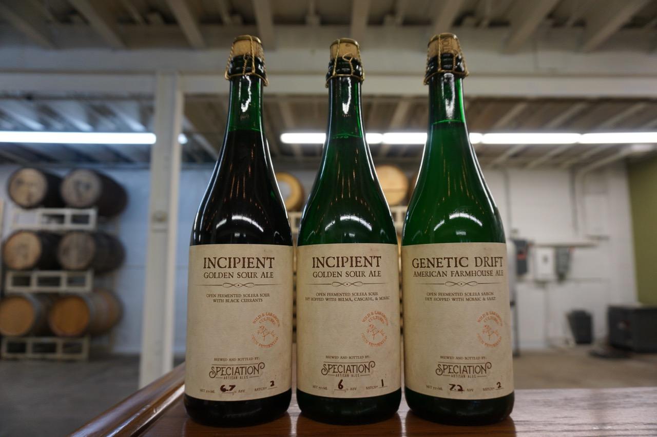 Speciation Artisan Ales bottles