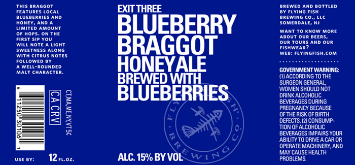 Flying Fish Brewing Co. | Exit 3 Blueberry Braggot