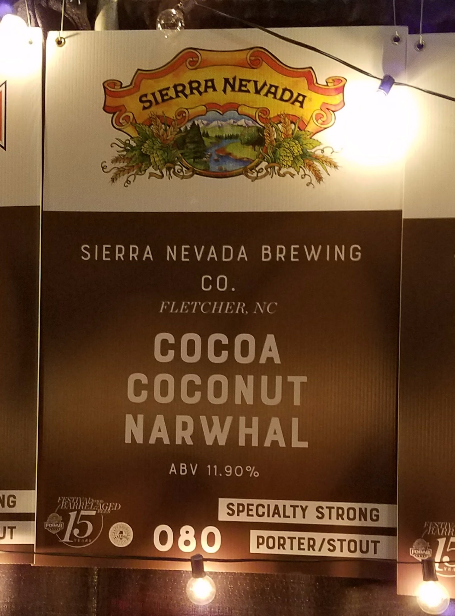 BCBS Alternatives - Sierra Nevada Cocoa Coconut Narwhal aged in Bourbon Barrels