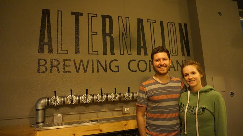 Brendan Pleskow and Jenn Sickels Co-Founders of Alternation Brewing