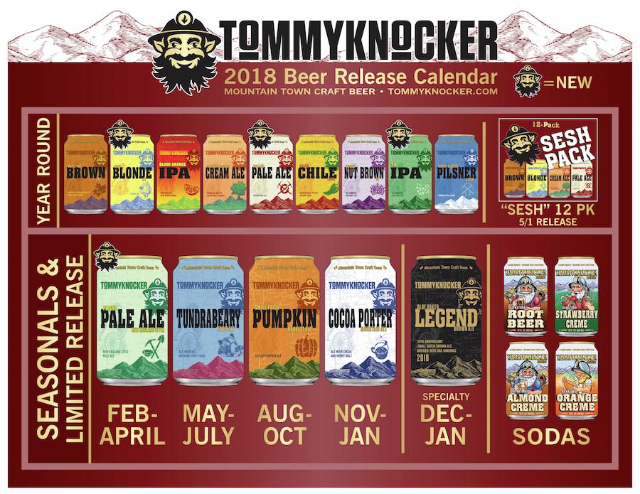 2018 Tommyknocker Brewery Beer Release Calendar