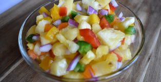 Spicy Pineapple Salsa with Mango Habanero Cider