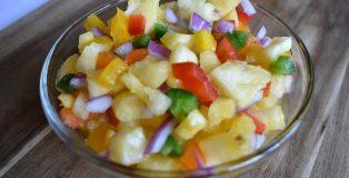 Spicy Pineapple Salsa with Mango Habanero Cider