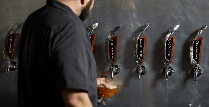 launch pad brewery tap handles