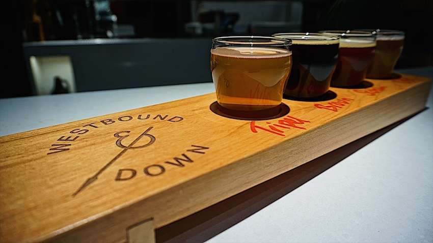 Westbound and Down Brewing Beer Flight