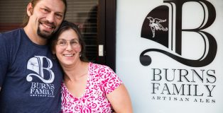 Wayne Burns and Laura Burns of Burns Family Artisan Ales