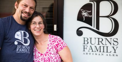 Wayne Burns and Laura Burns of Burns Family Artisan Ales