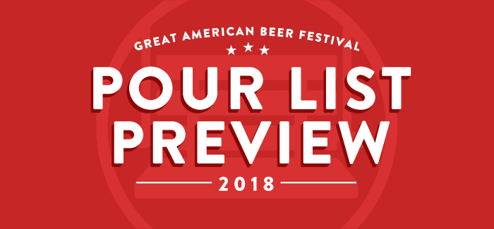 2018 Great American Beer Festival Pour List Preview