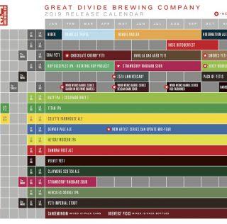2019 Great Divide Beer Release Calendar