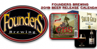 Founders Brewing 2019 Beer Release Calendar