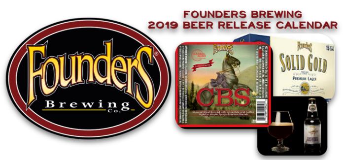 Founders Brewing 2019 Beer Release Calendar