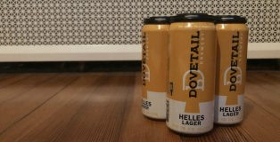 Dovetail Brewery Helles cans