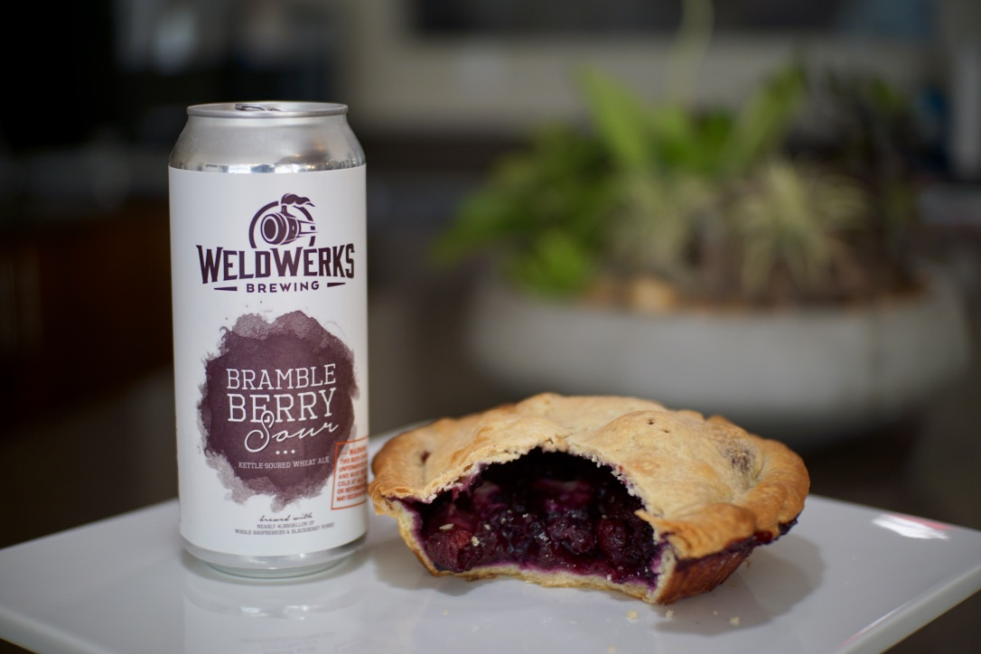 National Pie Day Beer + Pie Pairing Brambleberry Sour and Bumbleberry pie