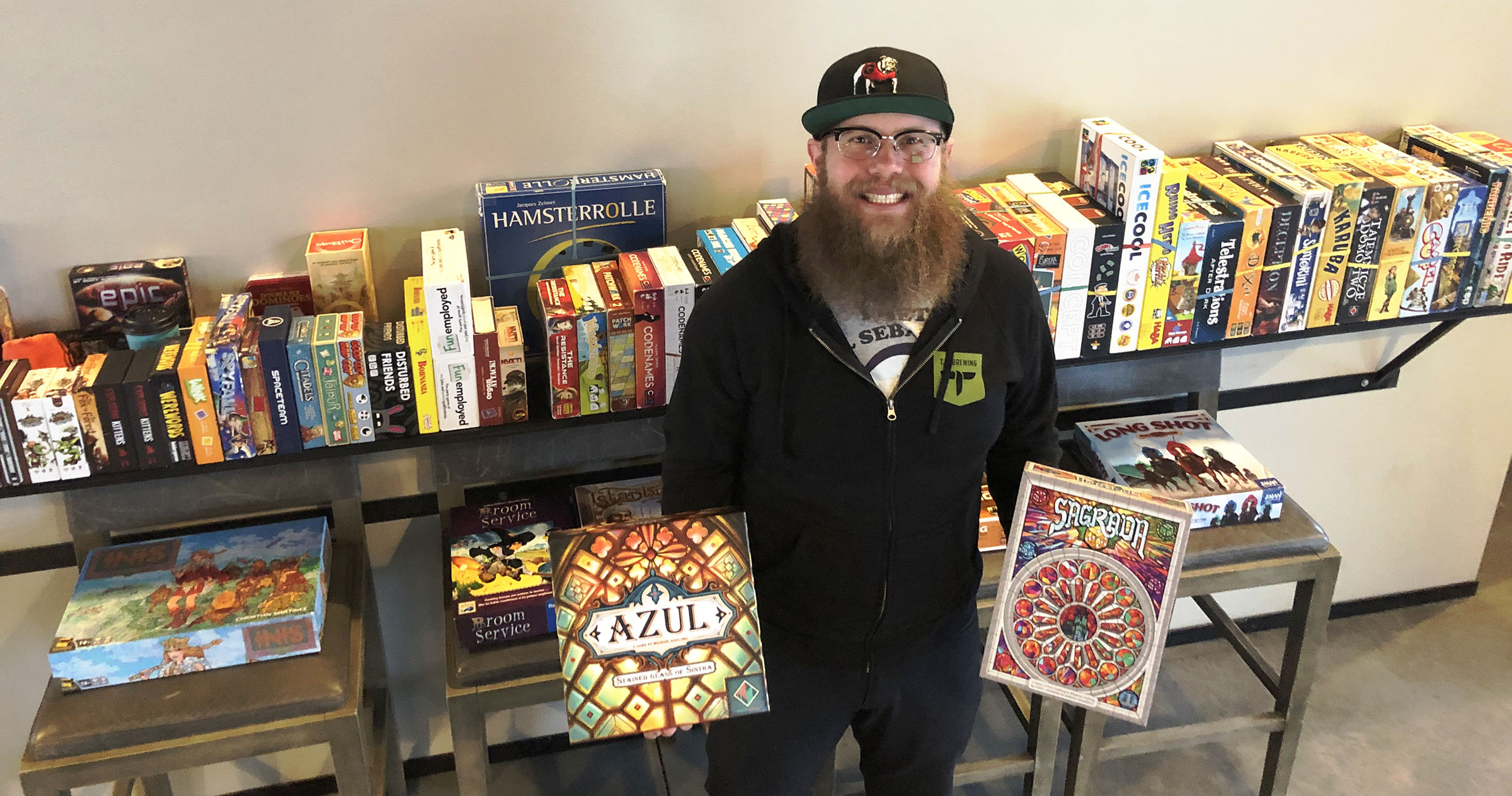 Jarrett Miller of Ales & Allies hosts weekly game nights each Wednesday at Salt Lake's TF Brewing.