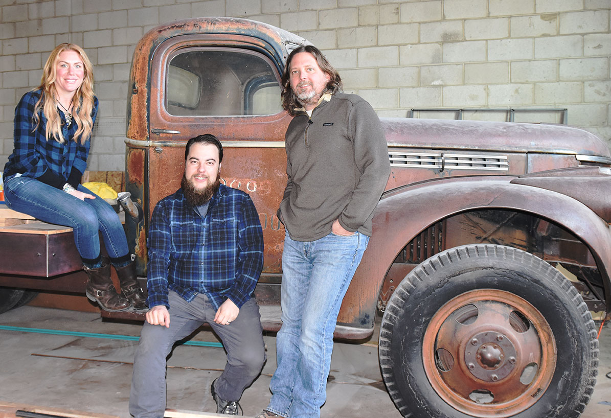 A 1946 Chevy farm truck will double as a stage when Level Crossing Brewing opens in the coming weeks.