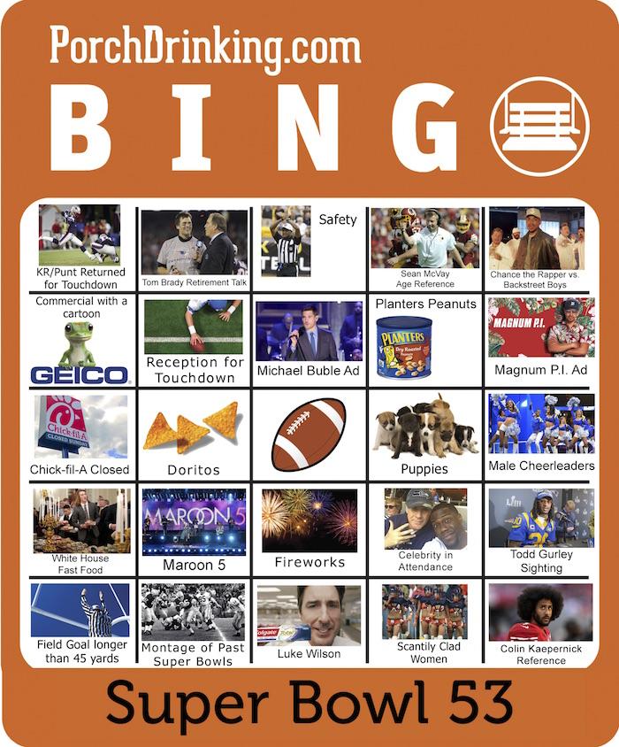 PD 2019 Super Bowl Bingo Boards 53