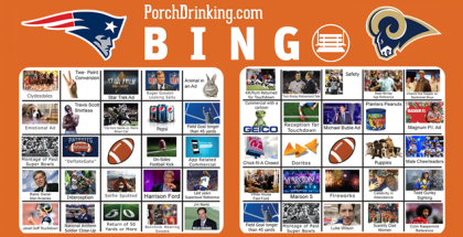 Super Bowl 53 Bingo Cards Cover