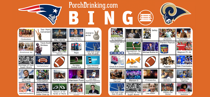 Super Bowl 53 Bingo Cards Cover