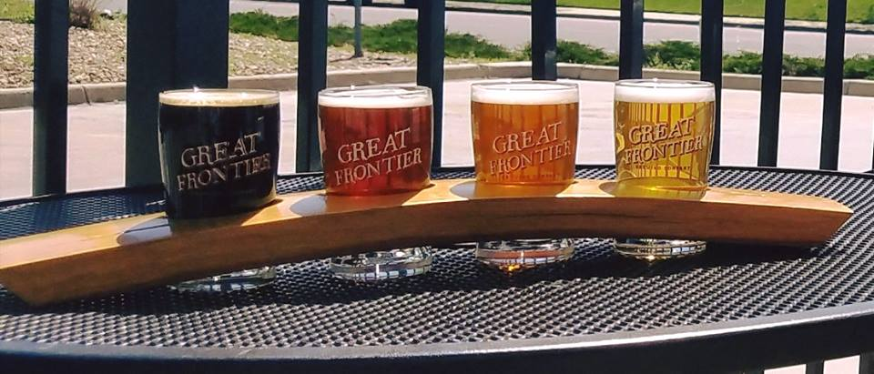 Great Frontier Brewing Co Flight Oak Street IPA