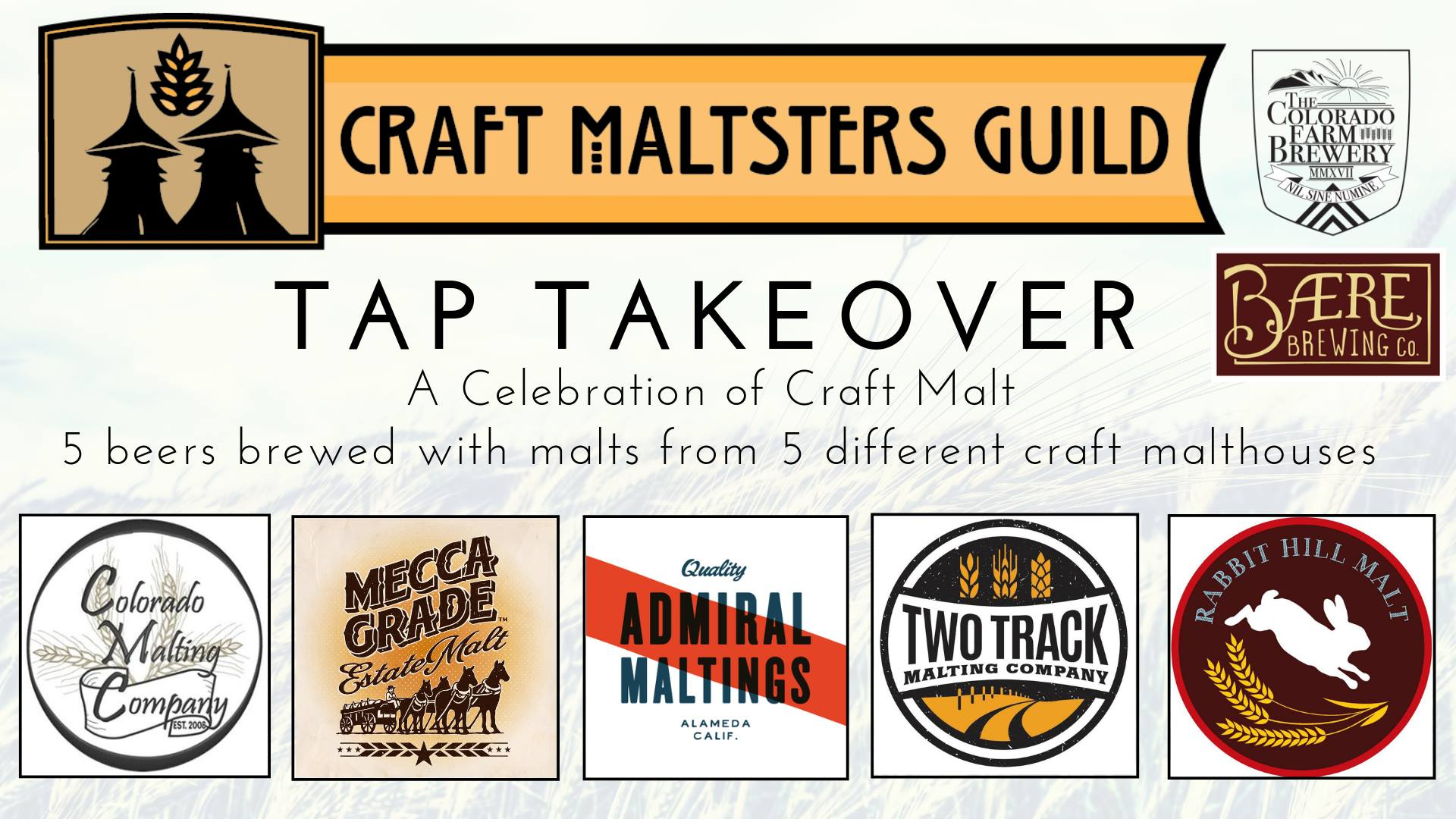 Craft Malsters Guild Tap Takeover during CBC 2019