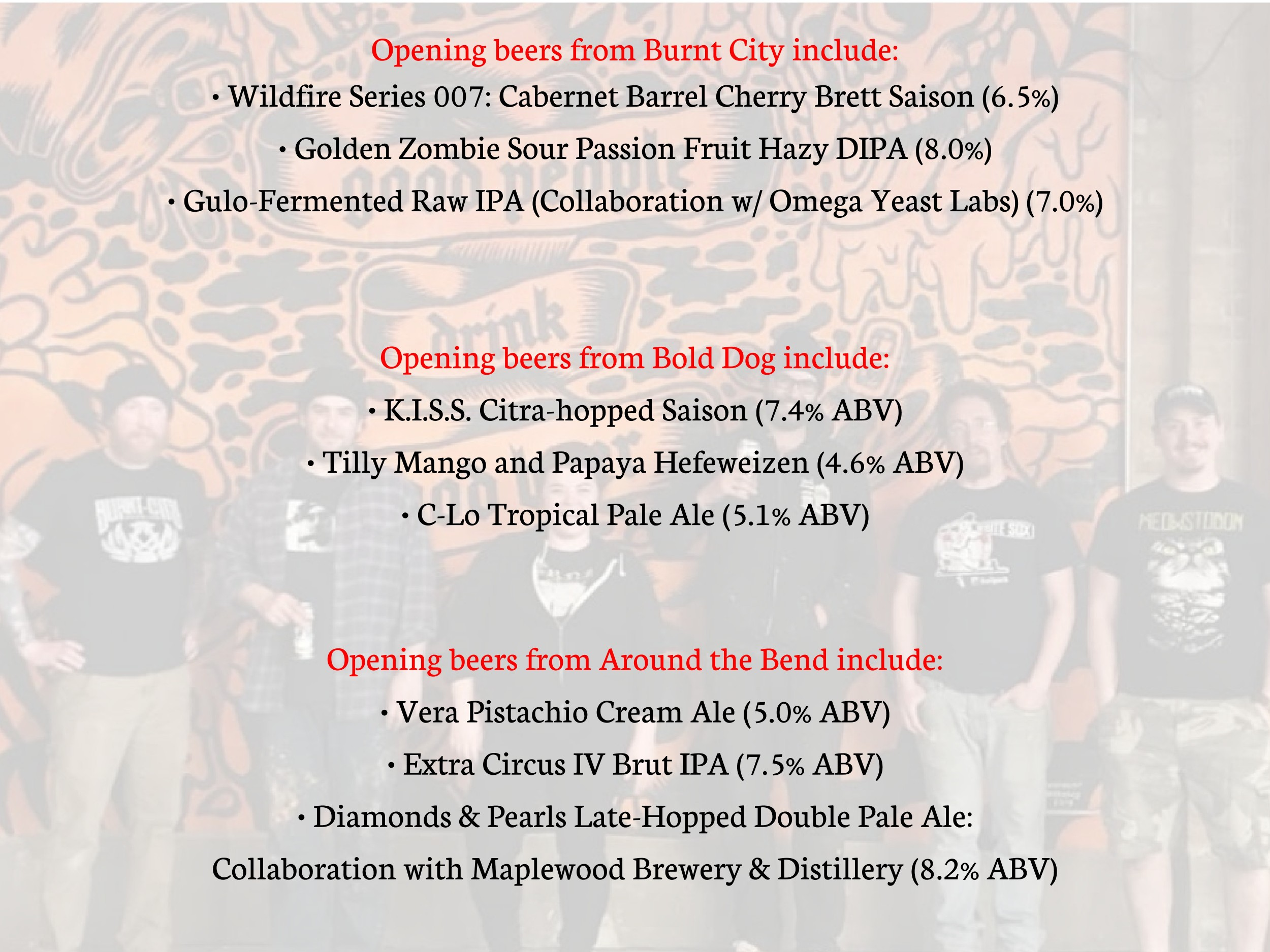 District Brew Yards Menu