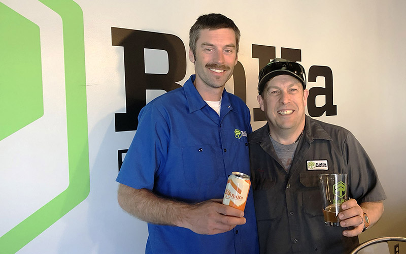 "Rob Phillips, left, and Chris Haas are the ""Ro"" and the ""Ha"" in RoHa Brewing Project. The Salt Lake brewery celebrated its two-year anniversary in April 2019."
