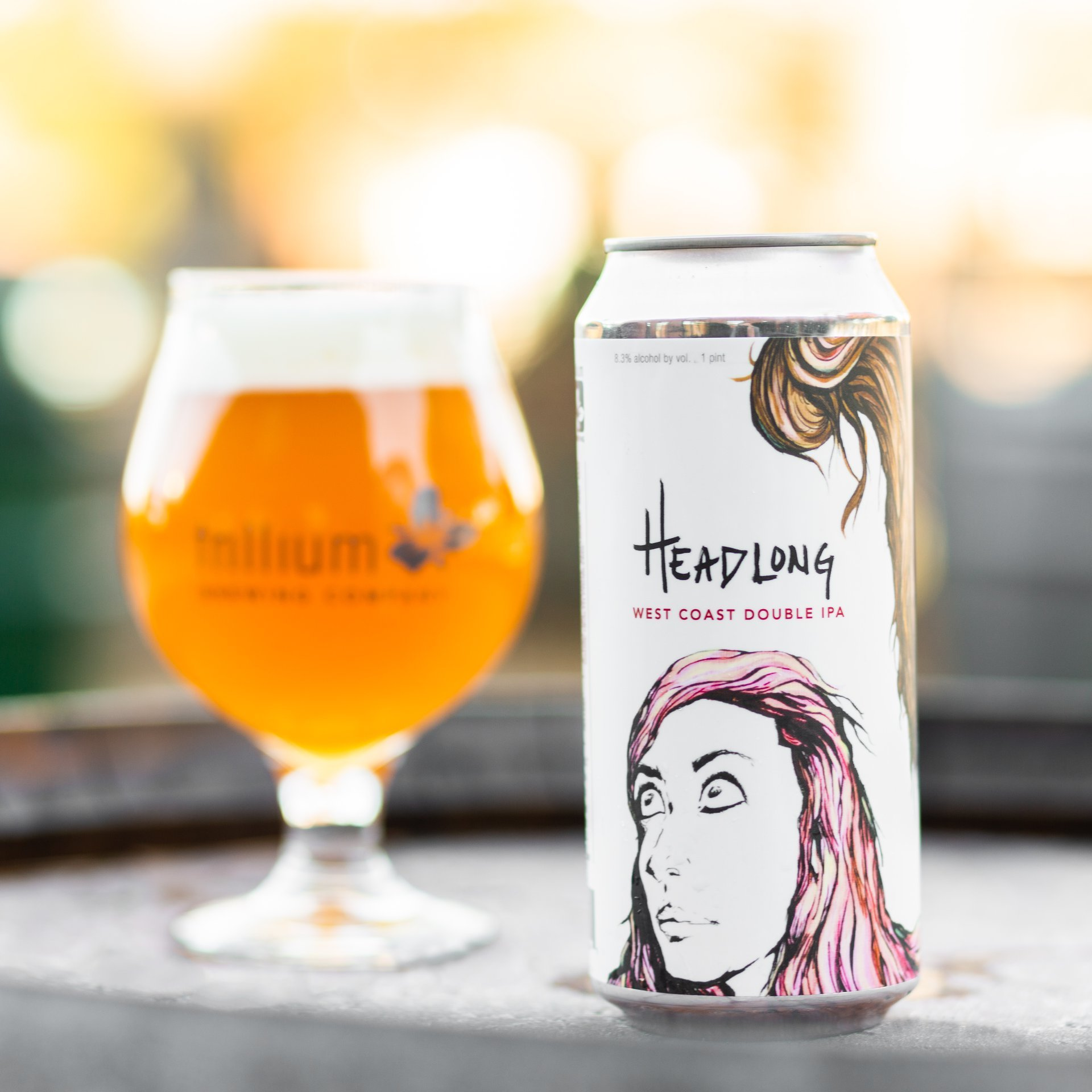 Trillium Headlong Label Art by Heidi Geist