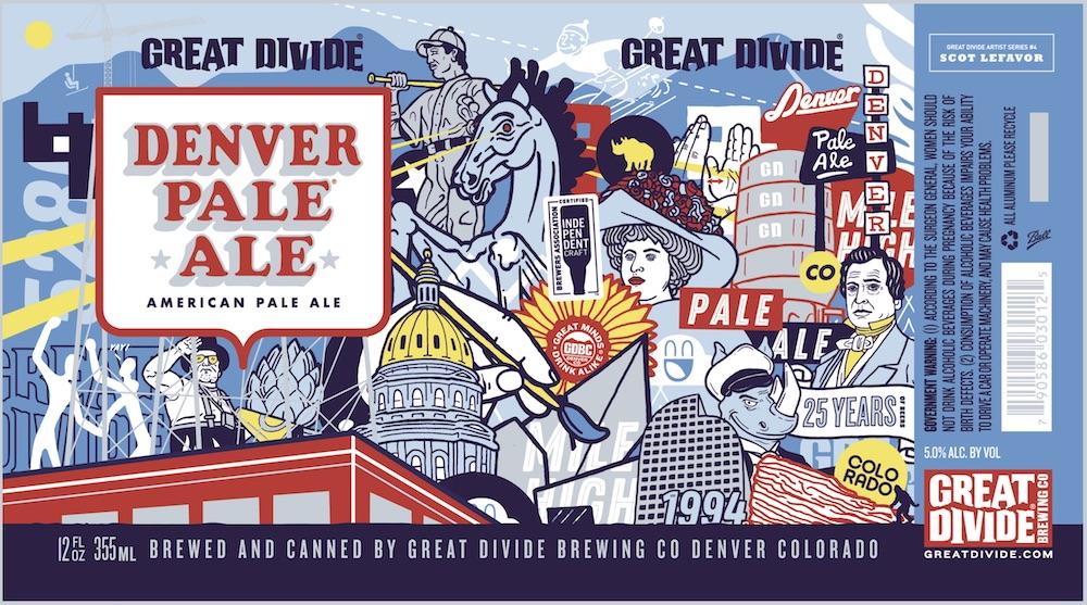 Great Divide Denver Pale Ale Artist Series No. 4 Featuring Artist Scot Lefavor