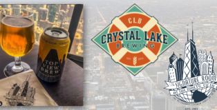 Crystal Lake Brewing Top View Brew made for Chicago's Signature Room on the 95th Floor of the Hancock Building