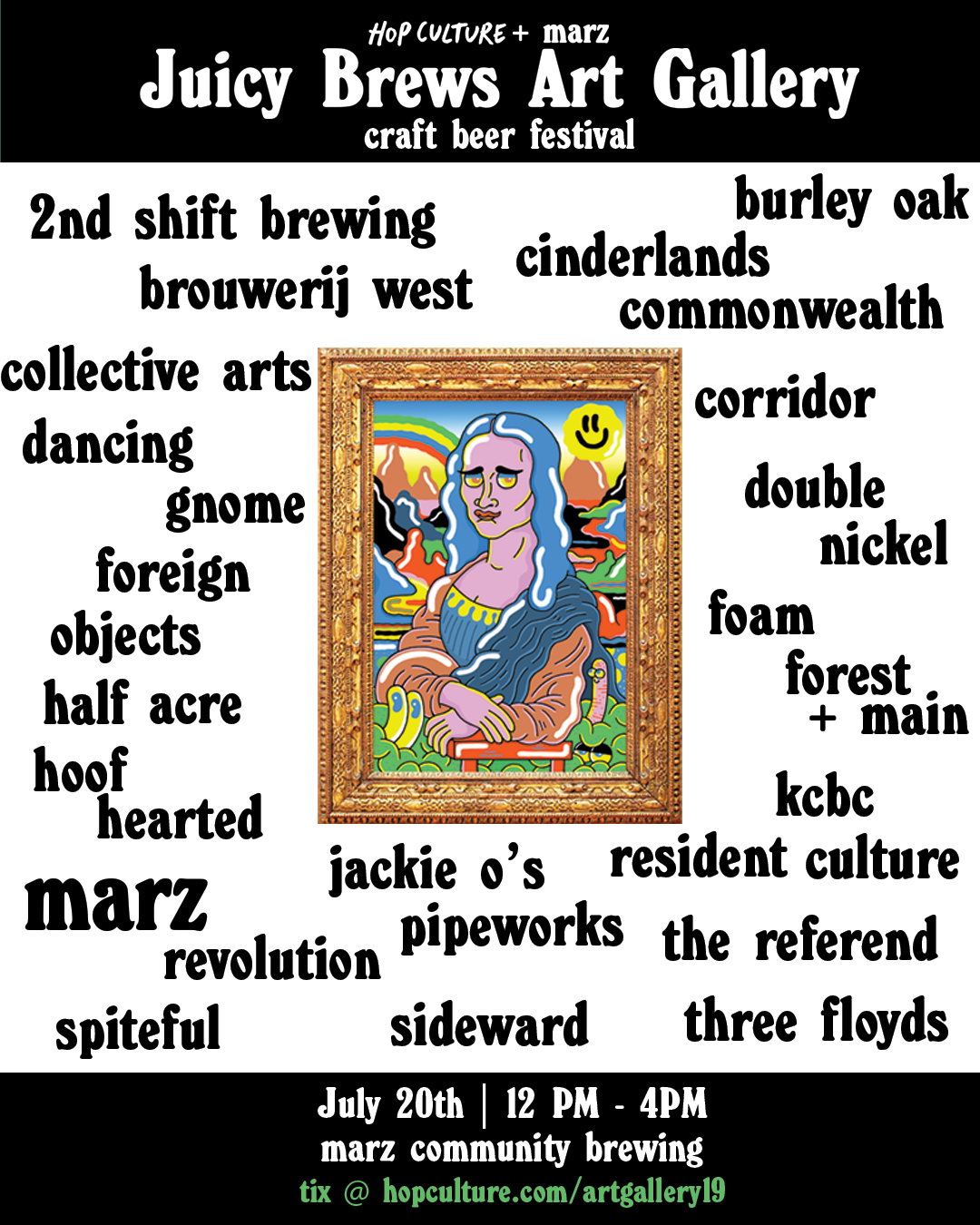 Hop Culture & Marz Brewing July 20 Arts and Beer Festival
