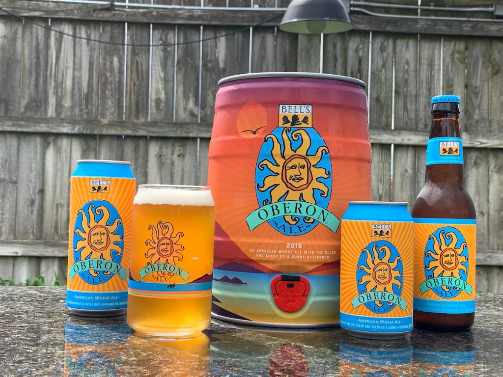 Bell's Oberon mini keg and family photos