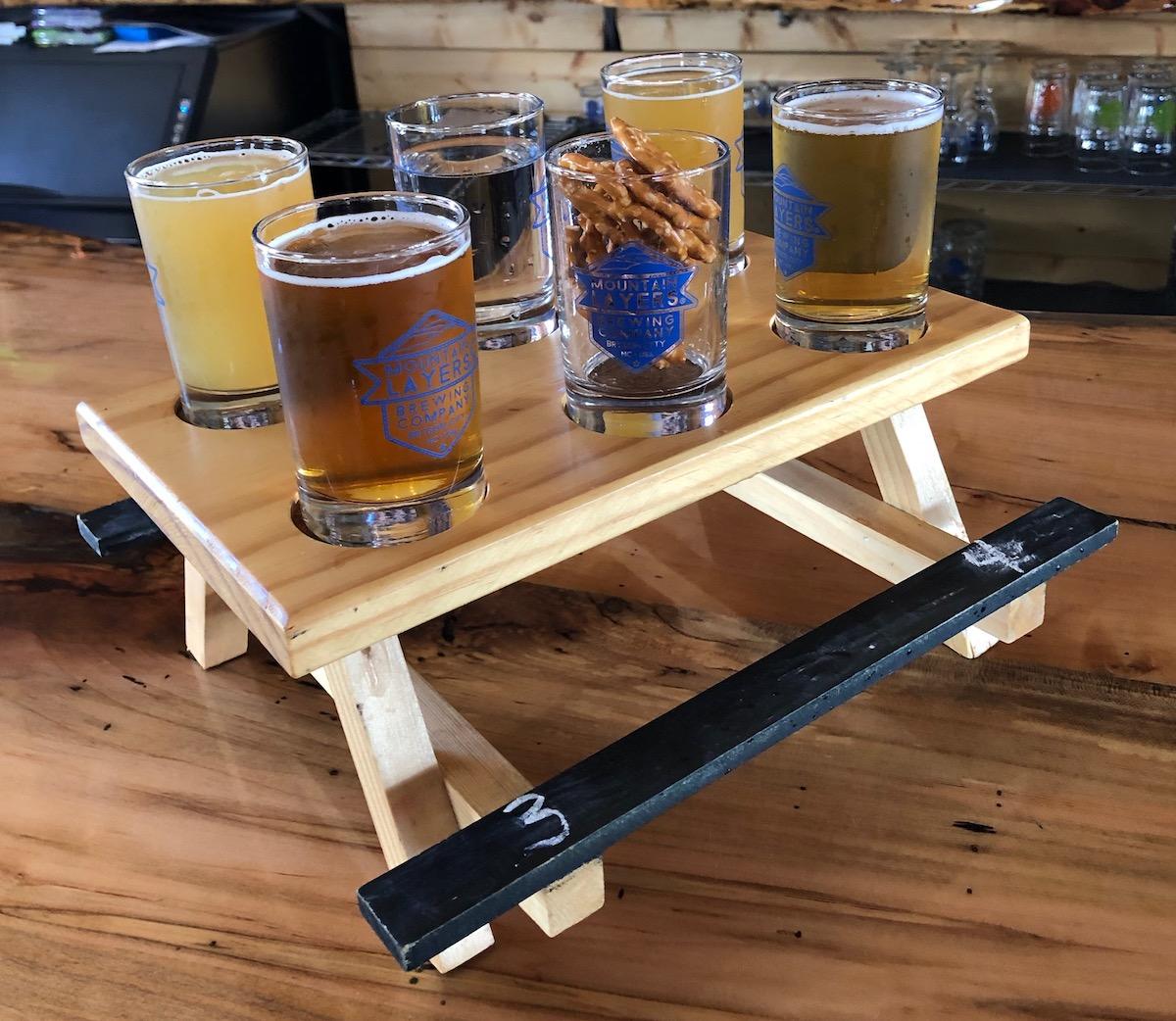 Mountain Layers Beer Flight