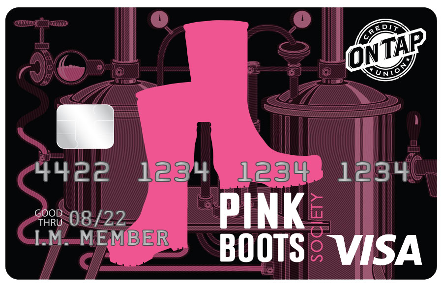 On Tap Credit Union Pink Boots Society Card