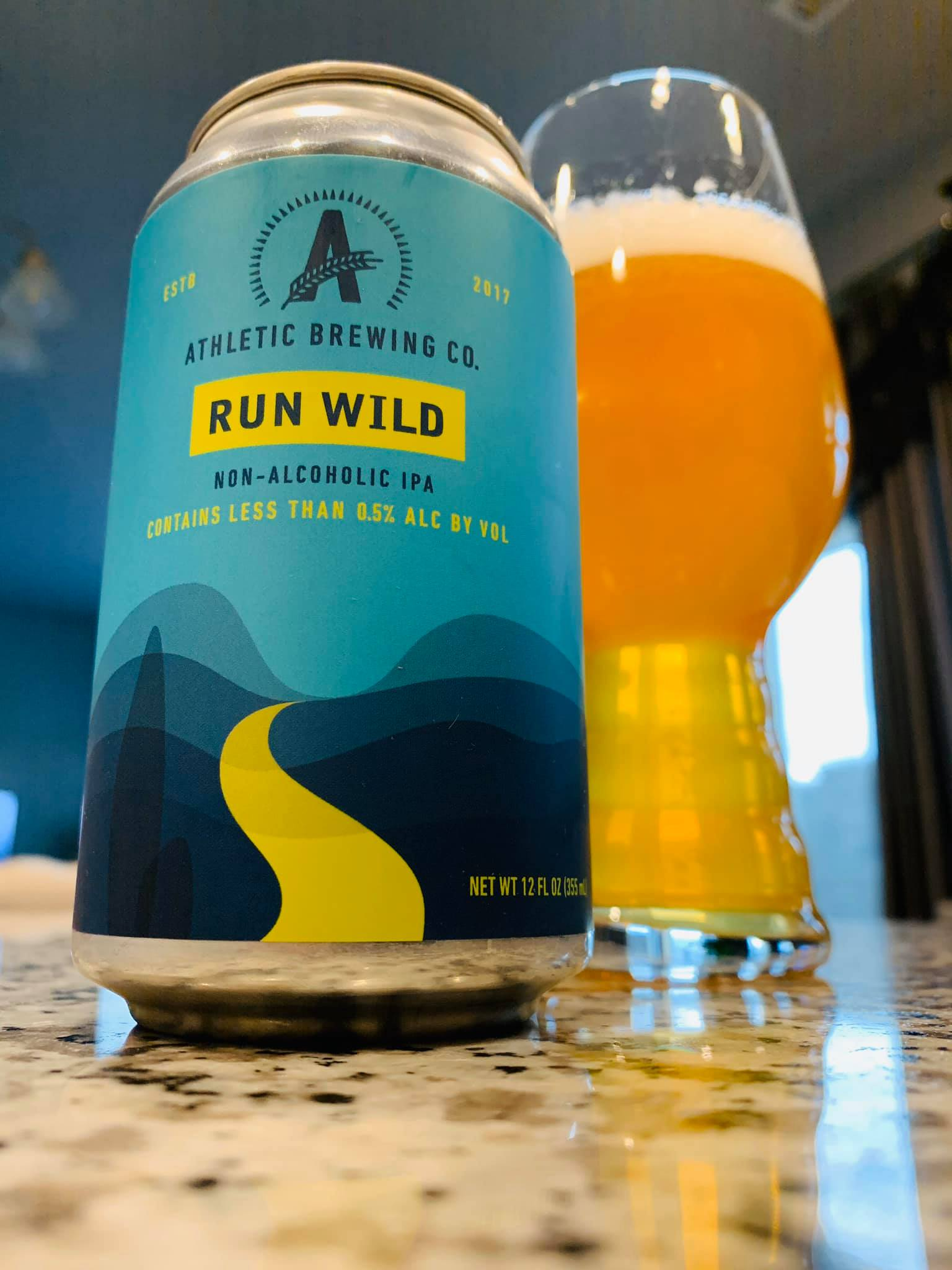 Athletic Brewing Co. Run Wild Non-Alcoholic IPA