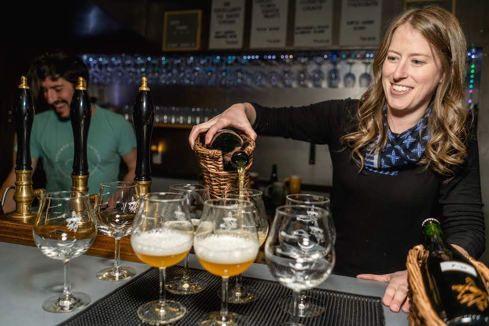 Brandon Boldt and Lisa Boldt Primitive Beer