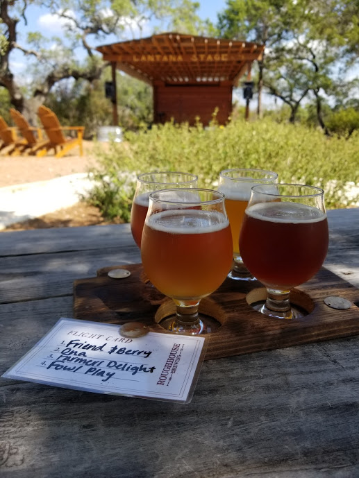 A fight of four Roughhouse beers - Ona, Friend and Berry, Farmers Delight, Fowl Play