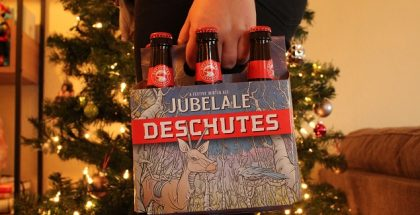 a full six pack of Jubelale from Deschutes Brewing
